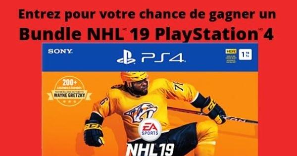 Concours GAGNEZ un Bundle NHL 19 PlayStation 4!