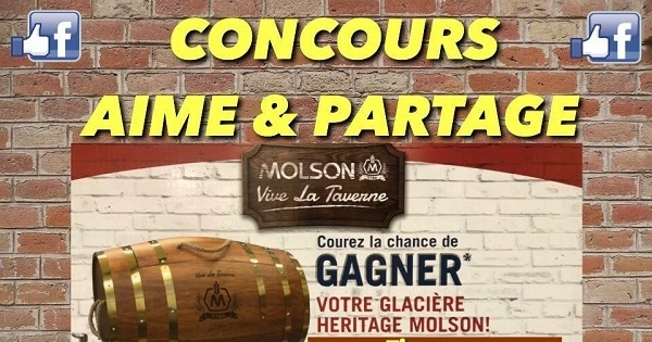 Concours GAGNEZ UNE SUPERBE GLACIÈRE HERITAGE MOLSON!