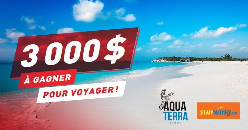 Concours Gagnez 3000$ pour voyager!