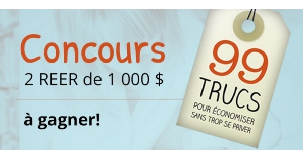 Concours Gagnez l'un des 2 REER de 1000$ chacun!