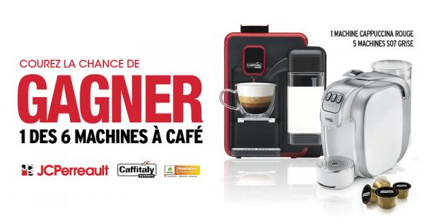 Concours Gagnez l'une des 5 cafetières Caffitaly avec coffret dégustation!