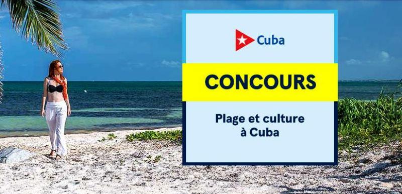 Concours Gagnez un voyage à Cuba!