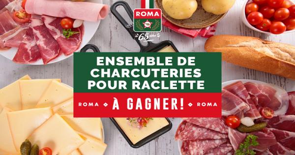 Concours Gagnez un ensemble de charcuteries pour une raclette!