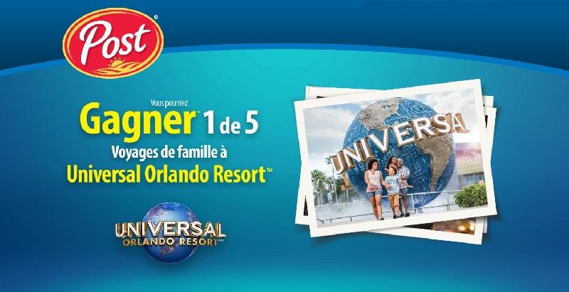 Concours Gagnez un des 5 voyages pour 4 personnes aux parcs Universal Orlando Resort!