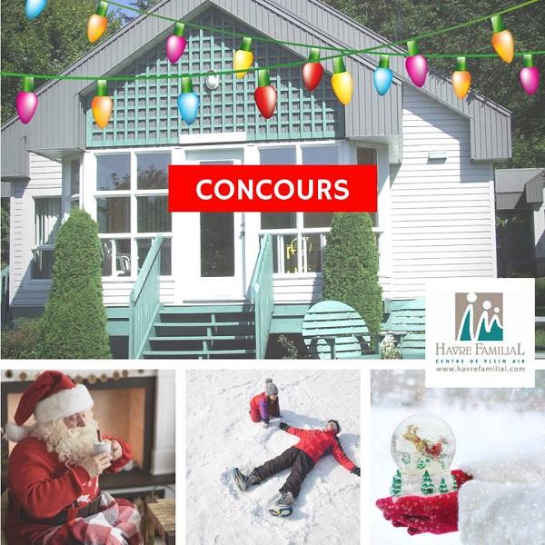 Concours Gagnez un séjour dans un chalet  pour célébrer le temps des Fêtes en famille!