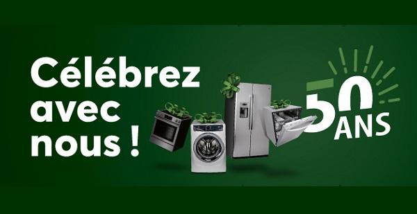 Concours Gagnez jusqu'à 10 000 $ en électroménagers!