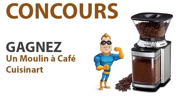 Concours Gagnez un Moulin à Café Cuisinart