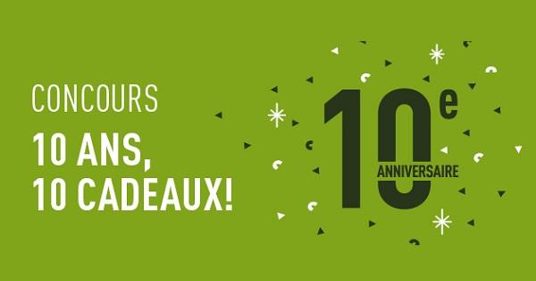 Concours SAIL 10 ans, 10 cadeaux!
