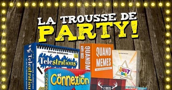 Concours GAGNEZ LA TROUSSE DE PARTY L'As des jeux!
