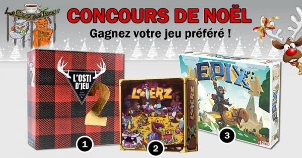 Concours Gagnez un des 3 jeux : L'Osti d'jeu 2, Looterz ou Epix!