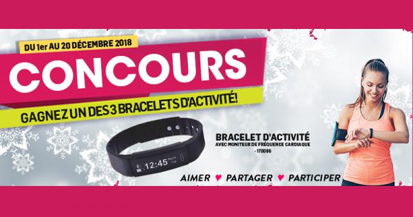 Concours Gagnez un des 3 bracelets d'activité!