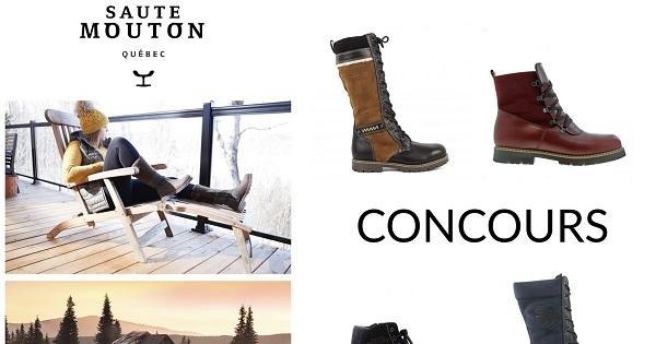 Concours Gagnez votre paire de bottes SAUTE-MOUTON!