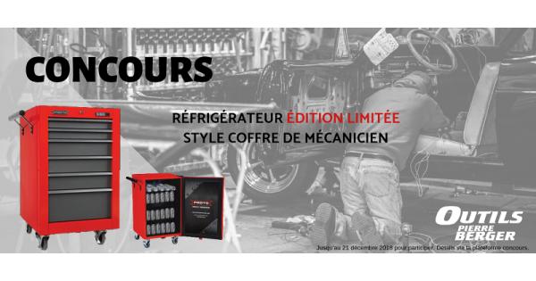 Concours Gagnez un réfrigérateur Proto aux allures de coffre de mécanicien!