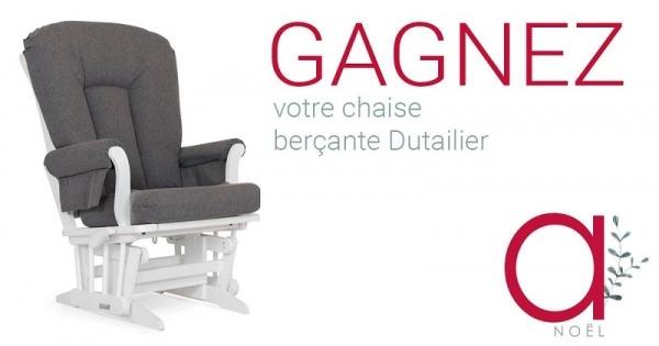 Concours Gagnez votre chaise-berçante Dutailier!