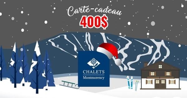 Concours Gagnez une carte-cadeau d'une valeur de 400$ pour la location d'un hébergement au pied du Mont-Sainte-Anne