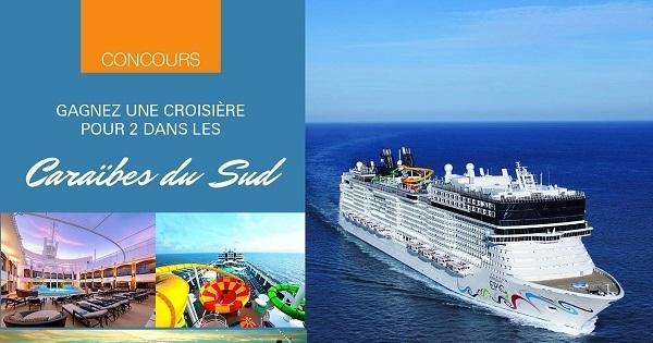 Concours Gagnez une croisière les Caraïbes du Sud!