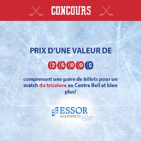 Concours Gagnez une soirée de hockey exclusive d'une valeur de 2500$!