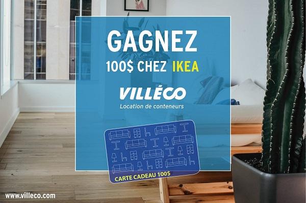 Concours Gagnez 100$ chez IKEA!