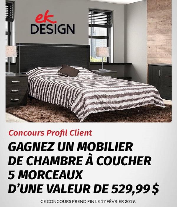 Concours Gagnez un mobilier de chambre à coucher 5 morceaux d'une valeur de 529,99$!
