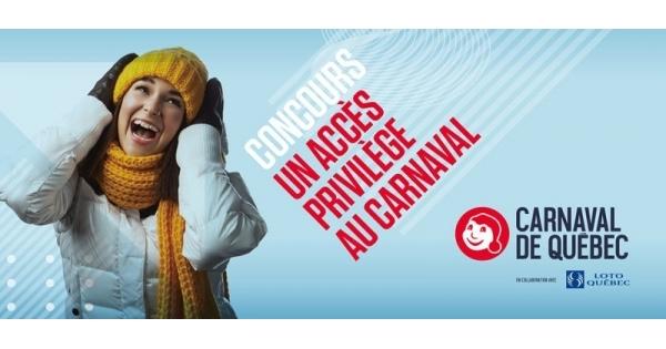 Concours Vivez le Carnaval de Québec en formule VIP pour 4 personnes!