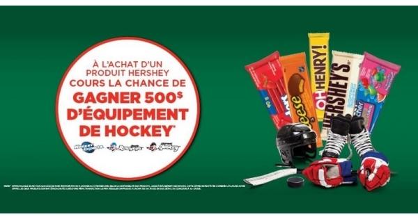 Concours Gagne 500$ pour ton équipement de hockey!