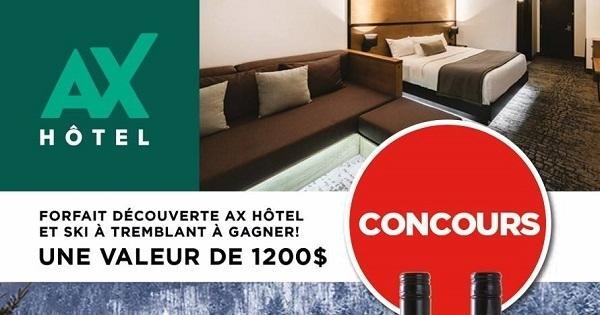 Concours Gagnez un forfait découverte à l'AX Hôtel incluant une passe de ski à Tremblant!
