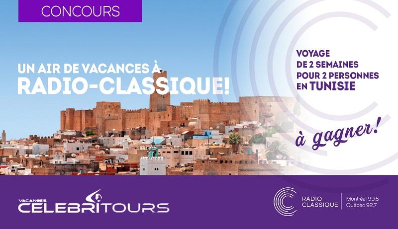 Concours Gagnez un voyage de 14 jours pour 2 personnes en Tunisie!