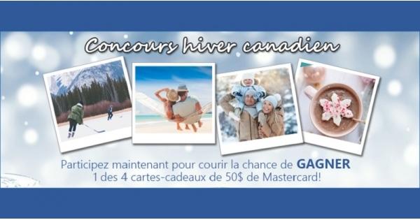 Concours Gagnez une des 4 cartes-cadeaux de Mastercard d'une valeur de 50$ chacune!