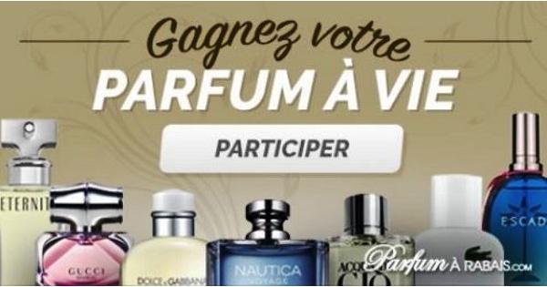 Concours Gagnez votre parfum à vie grâce à Parfum à Rabais!