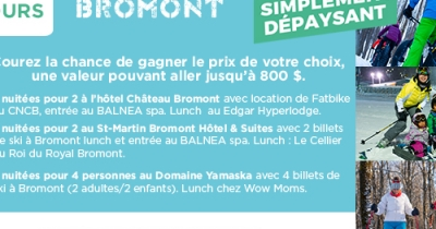 Concours Explorez Bromont!