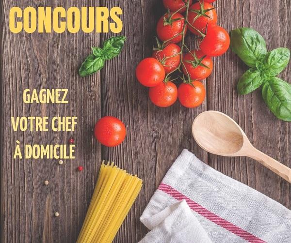 Concours Gagnez votre chef à domicile pour vous préparer un repas 5 services offert par Convivio!