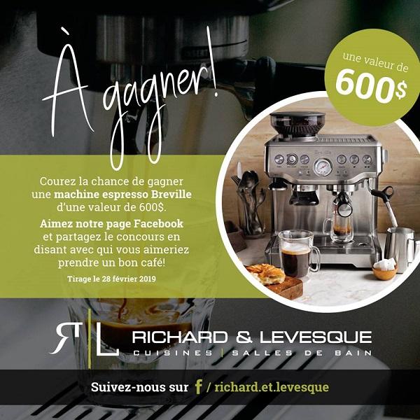 Concours Gagnez une machine espresso Breville d'une valeur de 600$!