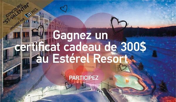 Concours Gagnez un certificat cadeau de 300$ à l'Estérel Resort!