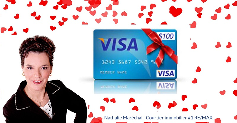 Concours Gagnez une carte cadeau prépayé de 100$ pour vous gâter ou gâter votre amoureux(se)