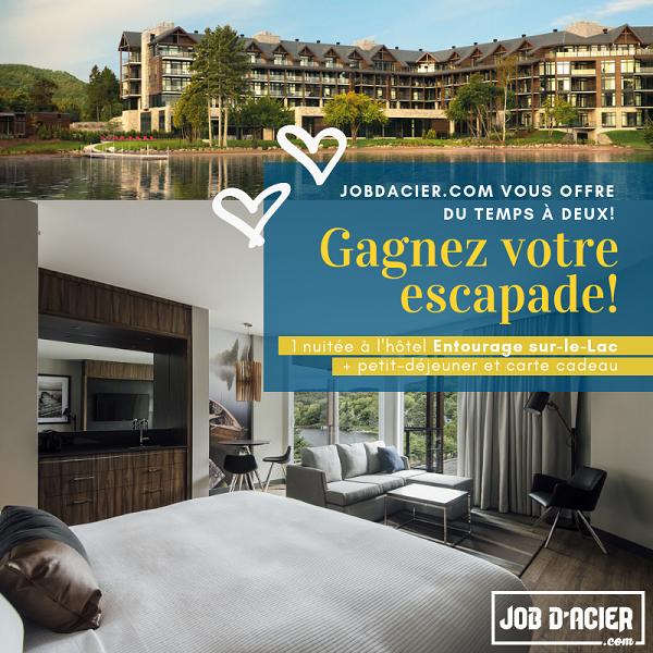 Concours Gagnez une escapade de rêve pour deux personnes à l'hôtel Entourage sur-le-Lac!