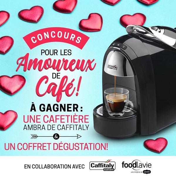 Concours Gagnez une cafetière Ambra de Caffitaly Canada ainsi qu'un coffret dégustation!