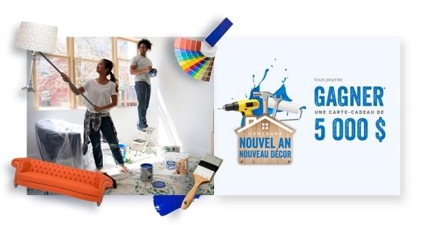 Concours Gagnez une carte-cadeau de 5000$ pour rénover une pièce de votre maison!