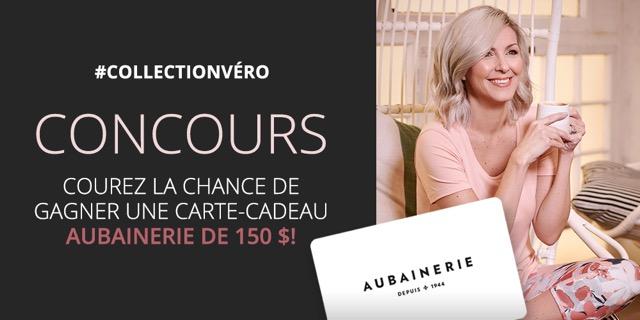 Concours GAGNEZ UNE CARTE-CADEAU DE 150$ CHEZ AUBAINERIE!