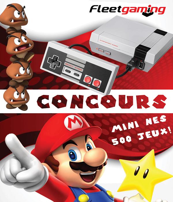 Concours Gagnez une console MINI NES incluant 500 jeux!