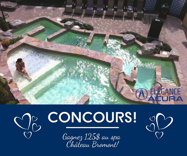 Concours Gagnez un certificat cadeau de 125$ au spa du Domaine Château-Bromont!