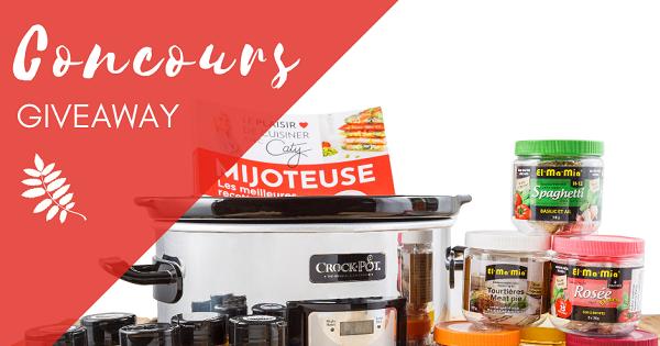 Concours Gagnez votre mijoteuse Crockpot, le livre Mijoteuse de Caty Bérubé et un assortiment de produits El-Ma-Mia!
