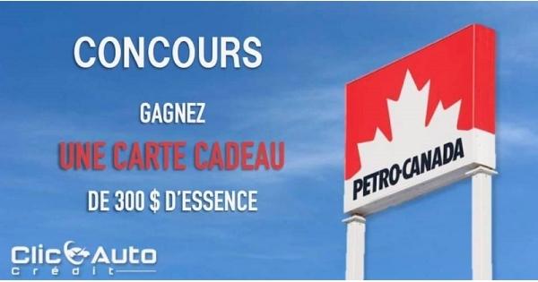 Concours Gagnez une carte cadeau de 300$ d'essence!