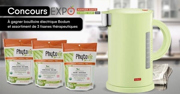 Concours Phytovie en partenariat avec Expo Manger Santé et Vivre Vert 2019!
