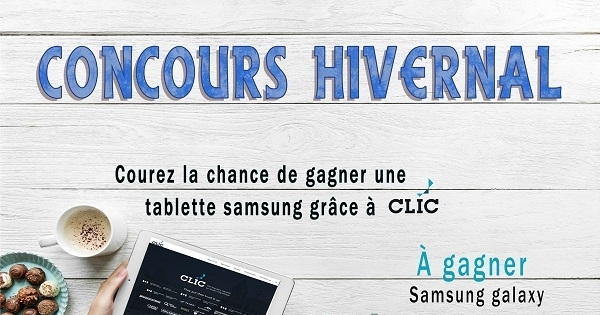 Concours Gagnez une tablette Samsung galaxy Tab E 7!