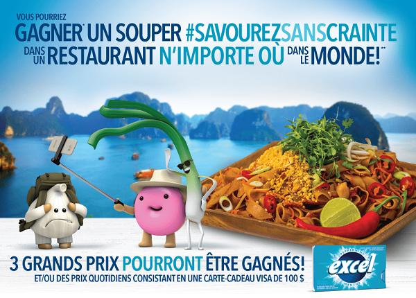 Concours Gagnez un souper au restaurant n'importe ou dans le monde!