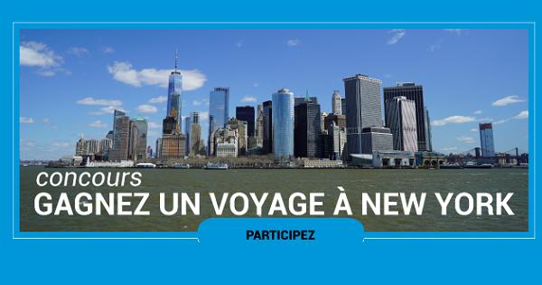 Concours Gagnez un voyage pour 2 personnes à New York!