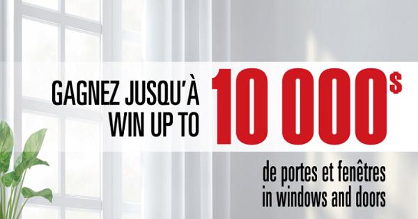 Concours Gagnez jusqu'à 10 000 $ de portes et fenêtres avec Solarcan!
