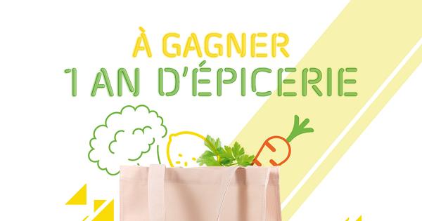 Concours Gagnez 1 an d'épicerie chez IGA d'une valeur de 5 200$!