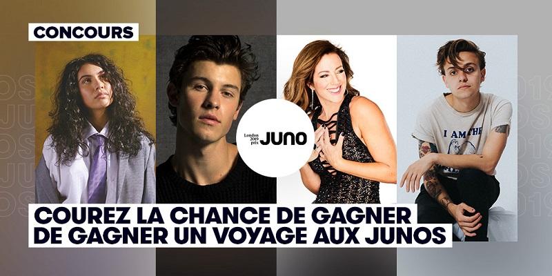 Concours Gagnez un voyage pour deux personnes au Junos!