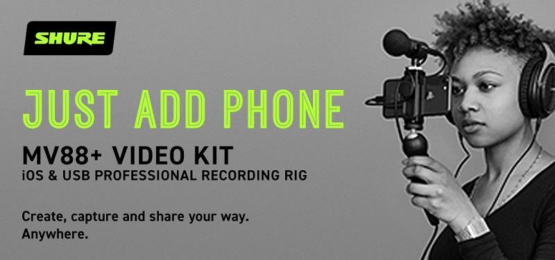 Concours Gagnez un ensemble MV88+ Video Kit de Shure pour des enregistrements de qualité professionnelle!